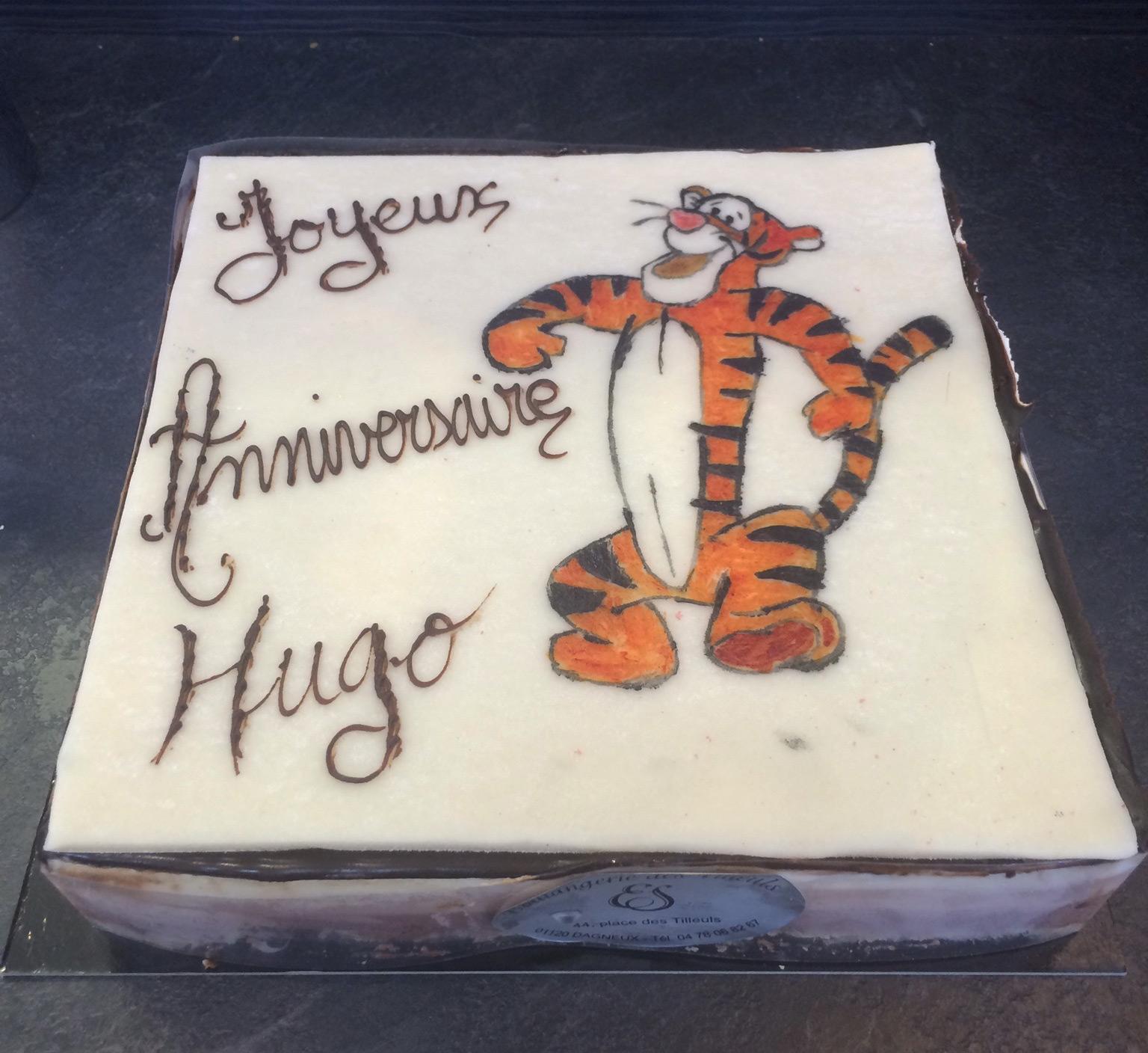 """Gateau personnalisé anniversaire """"Tigrou"""""""