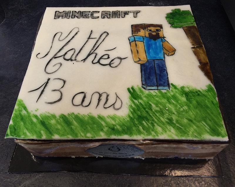 """Entremet anniversaire """"Minecraft"""""""