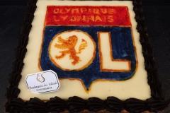 """Entremet personnalisé """"Olympique Lyonnais"""""""