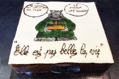 """Gâteau personnalisé """"Elle est pas belle la vie"""""""