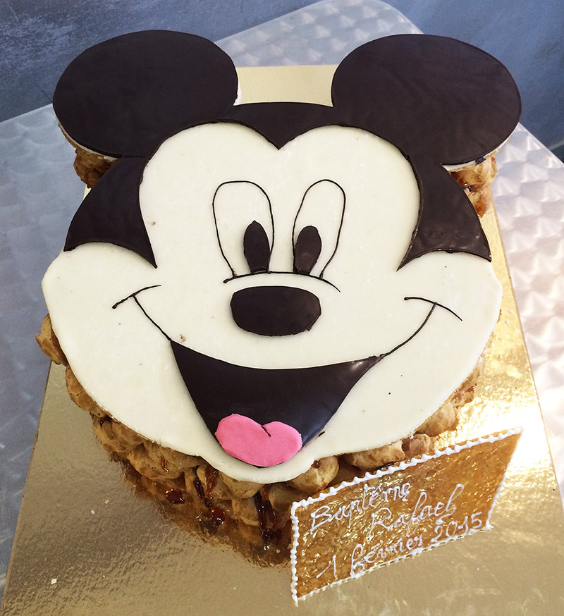 "Pièce Montée Baptême ""Mickey"""